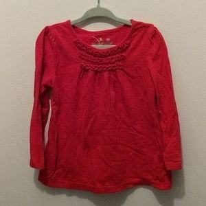 Jumping Beans 3T Red Long Sleeved Shirt